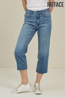 FatFace Light Wash Salcombe Denim Crop Jeans