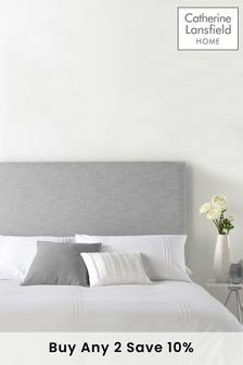 Grey Pastel Collection Headboard By Catherine Lansfield