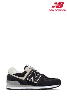 New Balance 574 Black/Grey Trainers