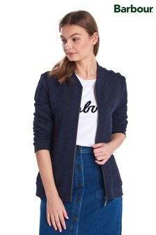 Barbour® Coastal Navy Quilted Jacquard Jersey Kelsey Jacket