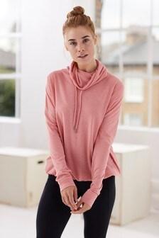 Pink  Lightweight Cowl Neck Top