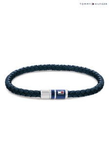 Tommy Hilfiger Blue Leather Bracelet