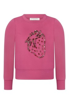 Charabia Girls Fuchsia Milano Sweater