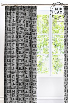 Football Pencil Pleat Curtains by Bedlam