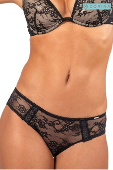 DORINA Black Cheeky Hipster Briefs