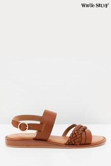 White Stuff Craft Leather Mini Wedges