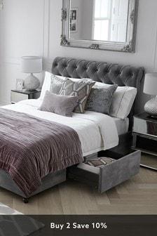 Opulent Velvet Steel Westcott® Two Drawer Bed
