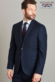 Navy Jacket Signature Birdseye Slim Fit Suit