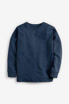 Navy Long Sleeve Cosy T-Shirt (3-16yrs)