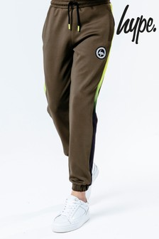 Hype. Green Neon Fade Kids Track Pants