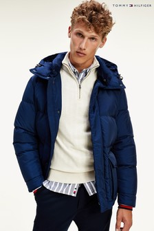 Tommy Hilfiger Blue Down Hooded Jacket