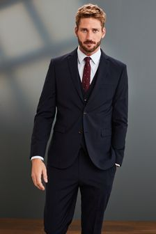 Navy Slim Fit Signature Suit: Jacket