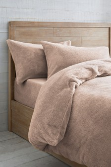Pink  Super Soft Fleece Duvet Cover and Pillowcase Set