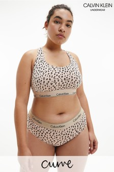 Calvin Klein Leopard Modern Cotton Curve Unlined Bralette