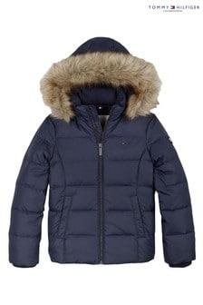 Tommy Hilfiger Blue Essential Basic Down Jacket