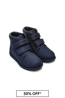 Boys Navy Pokey Pine Booties