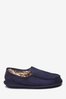 Navy Apron Close Back Slippers