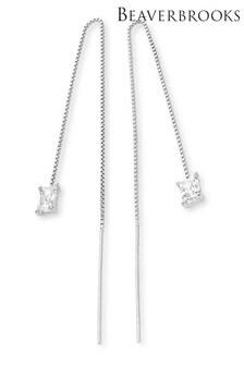 Beaverbrooks Silver Cubic Zirconia Drop Earrings