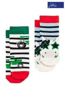 Joules Red Neat Feet Character Baby Socks Two Pack