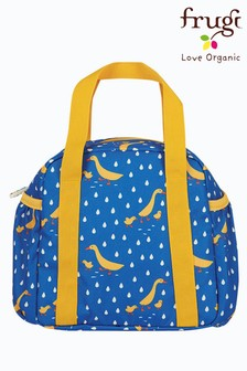 Frugi Recycled Polyester  Lunch Bag - Blue Ducks