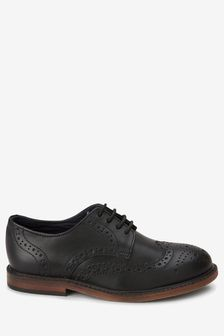 Black Leather Brogues (Older)