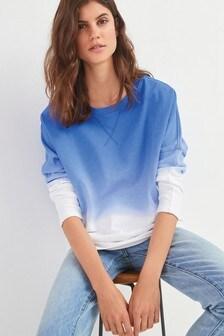 Navy/White Dip Dye Sweatshirt