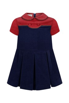 Baby Girls Navy Corduroy Dress
