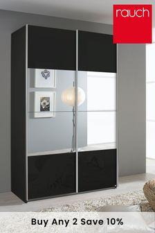 Dark Grey Mirror Courtney 1.36 Sliding Wardrobe By Rauch