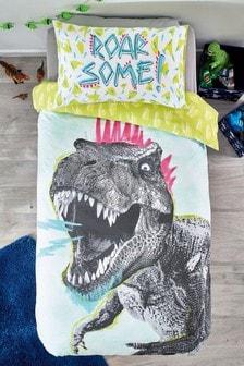 Crayon Dino Duvet Cover and Pillowcase Set