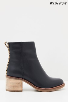 White Stuff Navy Chunky Ankle Boots