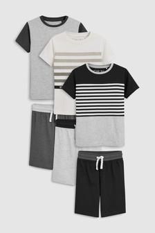 Monochrome Pyjamas Three Pack (3-16yrs) 5b9f01d2b