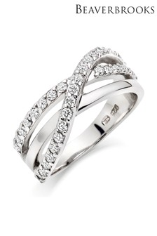 Beaverbrooks Cubic Zirconia Three Row Ring