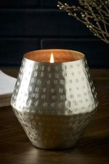 Sweet Almond & Vanilla Ceramic Metal Candle