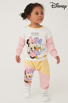 Colourblock Minnie Mouse Licence Sweater And Joggers Co-ord Set (3mths-7yrs)