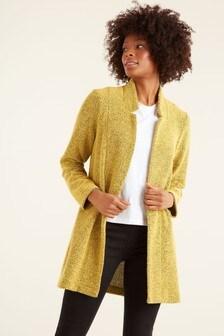 F&F Mustard Textured Snit Coat