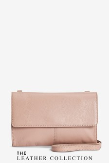Mink Leather Across-Body Bag