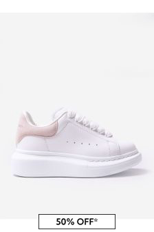 Alexander McQueen Girls White Trainers