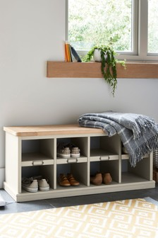 Huxley Painted Shoe Storage Bench