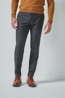 Brown Gingham Check Trousers