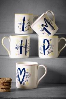 Floral Alphabet Mug