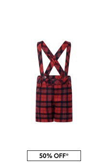 Baby Boys Red Tartan Check Shorts