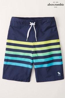 Abercrombie & Fitch Ombre Stripe Swim Shorts