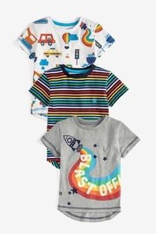 Rainbow 3 Pack Rocket T-Shirts (3mths-7yrs)