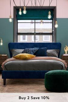 Opulent Velvet Navy Wilson Bed