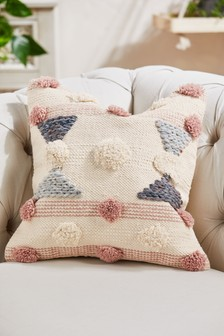 Tufted Pom Pom Cushion