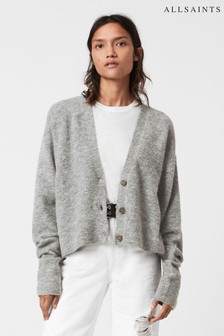 AllSaints Grey Relaxed Fit Cardigan