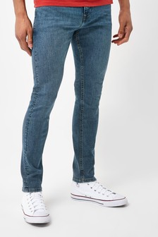 Blue Tint Skinny Fit Jeans With Stretch