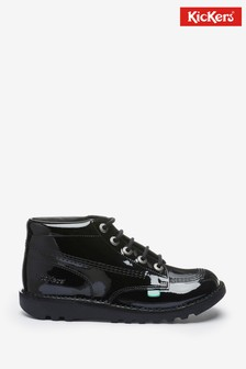 Kickers Kick Hi Patent Leather Shoes