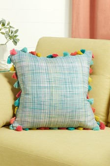 Houlton Tassel Check Cushion