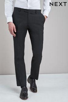 Black Slim Fit Stretch Formal Trousers